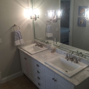 Full Mirror Sconces Built into Mirror Southern Concepts Contracting