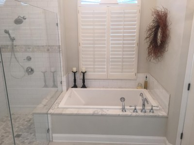 Subway Tile with Mosiac Boarder Southern Concepts Contracting